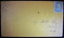 CIVIL WAR JEFFERSON DAVIS 10 CENT STAMP ID'D MILLINER DRESS MAKER OKOLONA MS
