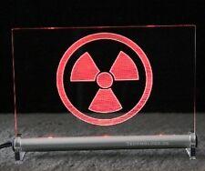Radioaktiv -  LED Leuchtschild - Warnzeichen Warnschild