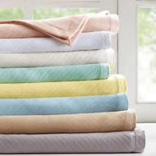 100% Cotton Woven Cozy Knit Full Queen or King Blanket : Quilt Cover All Seasons