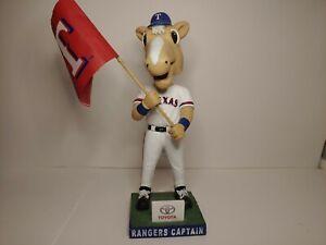 Texas Rangers MLB Baseball Captain Horse Mascot Bobblehead Toyota SGA