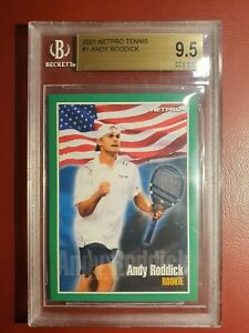 Original 2001 Netpro Tennis Andy Roddick  RC🌟 Beckett Graded Mint Cond 9.5