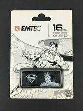 Emtec 16GB USB 2.0 Flash Drive DC Comics Superman Black & White