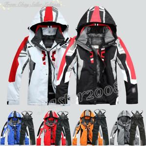 Men's Winter Ski Suit Jacket Waterproof Coat Pantsuits Snowboard Snowsuits Hot