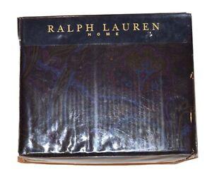$375 Ralph Lauren Home Alcott Olive Purple Paisley King Fitted Deep Sheet 380