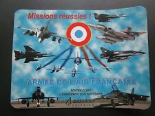 STICKER DASSAULT ARMEE AIR PATROUILLE DE FRANCE JAGUAR MIRAGE IV F1 2000 RAFALE