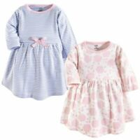 Touched by Nature Organic Cotton Dress, 2-Pack, Floral Shadow