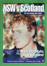 #Kk. Rugby Union Program - 6/6 1998, Nsw Waratahs V Scotland