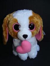 "Nwt Ty Beanie Boos 9"" Cookie Dog Medium Plush Valentine's Heart Boo Buddy New"