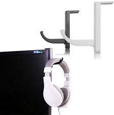 Headphone Headset Holder Hanger Wall PC Monitor Stand for Universal Headphones