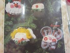 PATCH PRESS SEWING PATTERN ROLY POLY CHRISTMAS ORNAMENTS SANTA ANGEL MOUSE DEER