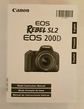 Canon Rebel SL2 Instruction Owners Manual EOS 200D Book NEW
