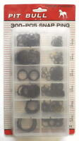 Pit Bull TAIAS300 300 Pieces Snap Ring Assortment Set With Storage Case