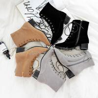 Gr.34-47 Damen Stiefeletten Ankle Boots Eckig Zehe Stiefel Kurzer Schick Schuhe