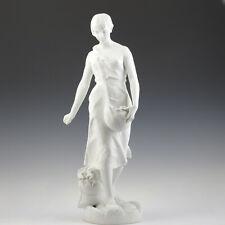 "E. Justin Ferrand ""Säerin"" Porzellan Skulptur 69 cm ca. 1890 French Art Nouveau"