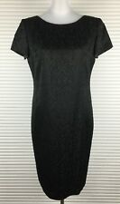ANTHEA CRAWFORD Size 10 Black Dress Embossed Paisley Glitters Made in Australia