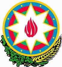 "Auto Aufkleber Wappen Aserbaidschan ""Azerbaijan"" Coat of arms 11cm Vinyl Sticker"