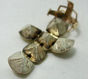 9 Carat Gold On Silver Masonic Ball Pendant