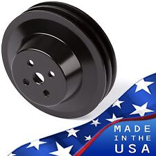 Black Aluminum Ford Water Pump Pulley 289 302 351W V-belt SBF 2 Groove V-belt