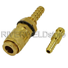 Gas & Water Quick Connector Fitting Hose Connector Fit Tig Welding Torch ,1 Set