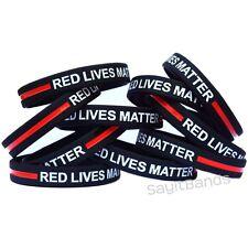Deluxe paracordpolice et feu Thin Blue Line-Thin Red Line Survival Bracelet