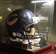 Brian Urlacher Dick Butkus Mike Singletary Signed Bears Pro NFL Game Helmet COA