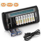 EBL 12-Bay LCD Rapid Charger For AA AAA 9V NiMH NiCD Multi Rechargeable Battery