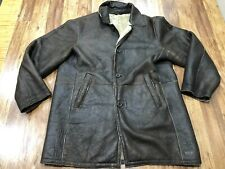 Mens 3Xl - Vtg Byron Shearling Leather Coat Jacket