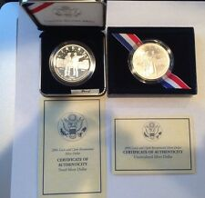 2004 Lewis and Clark Bicentennial Proof & Unc Silver Dollars w/ Box's and COA