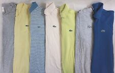 Lacoste Lot of 7 Men's Short/Long Sleeve Polo Shirts Medium, EUR 4 [B16764]