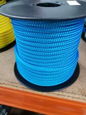 8MM Double Braided Rope Polyester Yacht Rope 40MTS Blue