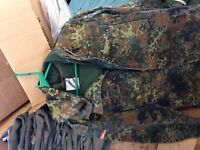 German Army FLECKTARN Parka, size XLarge