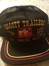 Vtg Leggott Trailers Trucker Hat_Hauling Ass_Horse_Cattle_Snapback_Waco_Texas