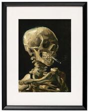 Vincent van Gogh Skull with Burning Cigarette print canvas framed reproduction
