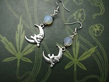 Hare & the Moon Earrings - Goddess - Moon - Witchcraft - Pagan - Silver