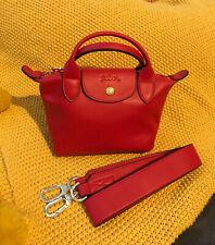 *Ltd Edition* Longchamp Le Pliage Cuir Top Handle/Cross Body Leather Mini bag