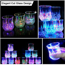 Liquid Activated Multicolor LED Glasses Fun Light Up Drinking Tumblers 6 oz 4pc