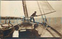 "1920 photo Sail Yacht Capella on way to Ramsey Isle of Man Whitweek 5.5x3.5"""