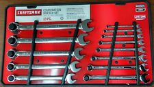 New Craftsman 13-piece Inch Full Polish Combination Wrench Set Inch 13 pc.