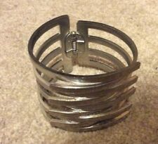 Oasis bangle bracelet jewellery silver coloured adjustable