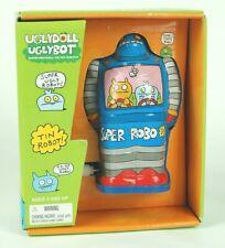 Schylling UGLYDOLL Tin Litho Wind-Up Robot UGLYBOT. Blue Super Robo!