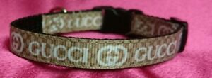 "XX SMALL DOG COLLAR , Chihuahua 6"" - 8"" neck. FREE FABRIC DESIGN."