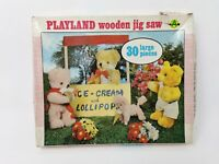 Vintage Playland Wooden Jigsaw - Ice Cream Stall - COMPLETE