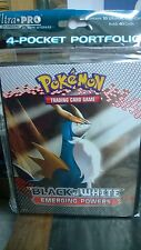 Pokemon Black & White Emerging Powers  4 Pocket Page Portfolio Album Binder