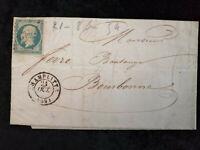 Frankreich 21.10.1854 (?) - Brief  Freimarke: Kaiser Napoléon III. EMPIRE FRANC.
