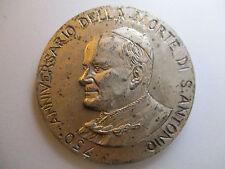 MEDALLA PAPA JUAN PABLO II - 750 AÑOS MUERTE S. ANTONIO MODULO GRANDE: 44 mm