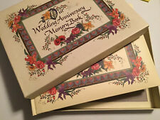 Our Wedding Anniversary Memory Book Album Scrapbook Floral Talus Vtg Marriage.