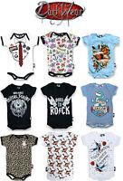 Six Bunnies Rompers/Metal/Skull/Rock/Skeleton/Punk/Funny/Cute/Unisex Baby Grows