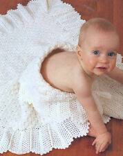 Crochet Pattern- Baby Crochet Shawl Pattern in 4ply- 40 X40 Square When Done 99p