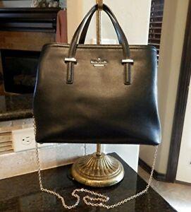 KATE SPADE NEW YORK Black Leather Shoulder Bag Purse Handbag