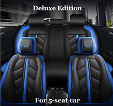 Car Front&Rear Seat Cover Luxury PU Leather Universal Seat Cushions Protector